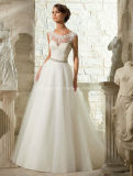 Empire Cap Sleeve Bridal Gown Embroidary Wedding Dress