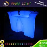 Night Club Lounge Furniture PE Glowing LED Corner Bar