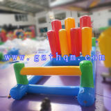 Portable Inflatable Water Game Mini Inflatable Totter Game for Kids