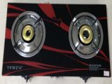 Cooktop Double Burner Glass Gas Stove
