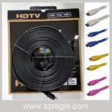 Colorful Large Screen Display Flat Gold-Plated Data Coaxial HDMI Cable