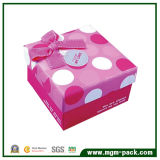 Lovely Pink Square Promotional Paper Box for Chocolate Gift