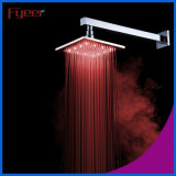 Fyeer Square Brass LED Rainfall Shower Head (QH325AF)