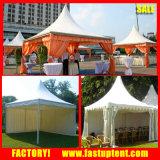 5X5m Chinese PVC Pagoda Tent Summer Gazebo with Drapes