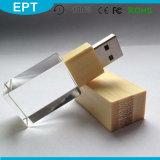 2017 High Quality Wooden Luxury USB Flash Drive Crystal USB Pen Drive (ED004)