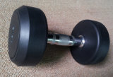 Professional Black Fixed Rubber Dumbbell for Sale (DP-01)