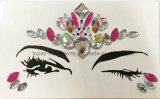 2018 China Skin Safe Christmas Party Eye Stickers White Studs Halloween Body Jewels Glass Crystal Face Stickers (FS11)