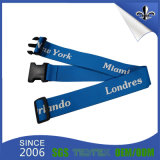 High Quality Custom Logo Luggage Strap with Plastic Buckle