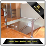 Durable Stainless Steel Handrail Clear Glass Balcony Balustrade