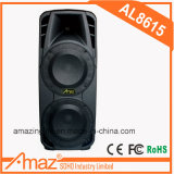 15 Inch Double Speaker with USB/SD/TF Card Reader Jack/Wireless Mic/ FM Radio