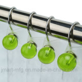 Polyresin Balls Shower Curtain Hooks for Bathroom Decors