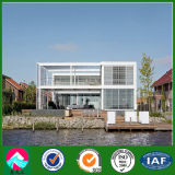 Design Prefab Light Steel House with Curtain Glass Wall (XGZ-PHW042)