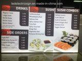 Advertising LED Light Box for Restaruant Menu Board