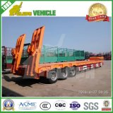 Tridem Axle 30-80 Tons Low Bed Semi Trailer Long Vehicle