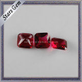Octagon Shape Brilliant Cut Dark Red Crystal Glass Bead