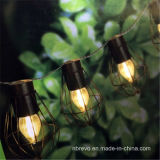 Outdoor Hanging LED Solar Powered Bulb Cage String Lights (RS1007)