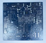 Double Layer PCB Fr4 Circuit Board with Blue Solder Mask
