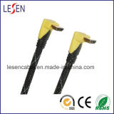 Right Angle HDMI Cable, 1.4V, 1080P, 3D