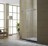 2017 Latest Big Wheels Stainless Steel Sliding Shower Door
