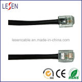 Rj11 Round Telephone Cable, Any Lengths and Colors Are Available