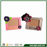 New Design Wooden Picture Frame with Flower Decorations
