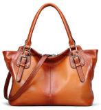 Women Vintage Soft Genuine Leather Tote Shoulder Bag Top-Handle Cross Body Handbags Ladys Purse