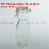 580ml Storage Glass Jar Fruit Glass Seal Container with Glass Lid