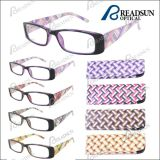 2015 Cheap Plastic Reading Glasses with Spring Hinge and Match Pouch (RP463001)