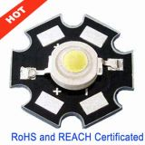 White 0.5 Watt High Power LED with Star Heat Sink