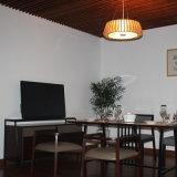 Modern Bamboo TV Stand for Living Room