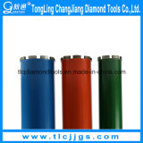 "Sinter Wet Diamond Core Drill Bits with 1 1/4"" Thread"