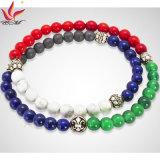 SMB002 Colorful Fashion Two Line Precious Stones Cheap Prices Bracelet