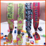 Colorful Party Fabric Woven Wristband (PBR028)