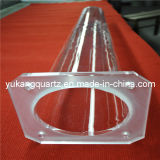 Square Transparent Quartz Flange Tube