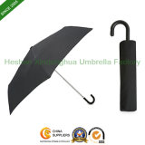 Customized Telescopic Umbrella with Hook Handle for Promotional Gift (FU-3821BC)
