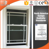 American Thermal Break Aluminum Single and Double Hung Glass Window with Grilles Design