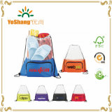 Custom Court Time Polyester Mesh Drawstring Cinch Backpacks