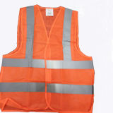 Orange Color Reflective Safety Vest with Reflective Strip