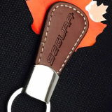 Custom Genuine Leather PU Keyring with Stamped Logo
