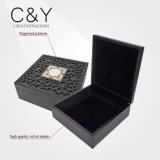 Matt Black Engraved Wooden Gift Box for Chocolate Package