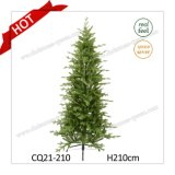 H210cm Kennedy Fir Narrow Plastic Christmas Tree with Real-Feel and Competitive Price