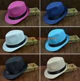 Fedora Straw Hat Wholesale - 8 Colors Can Be with Belt