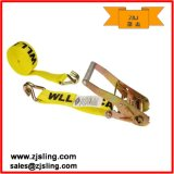 "En12195-2 2"" Double J Hook Ratchet Strap (1""- 4"" customized)"