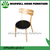 Solid Wood Without Armrest Coffee Chair with PU Seat