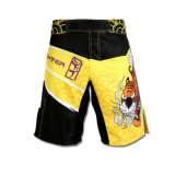Yellow Color MMA Shorts with Custom Sublimation Printing