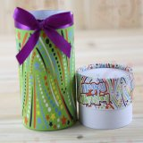 Tea Cannisters Printing Paper Tube Cylinder Customized Box for Gift