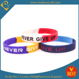 Hot Sale Rainbow Segmented Silicone Wristband in High Quality