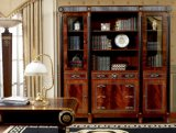 Spanish Classical Luxury Brown Golden Decoration Bookcase