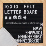 Natural Beech Frame with 340 White Letters Felt Letter Board