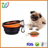 Portable Collapsible Plastic Ring Small Silicone Dog Bowl